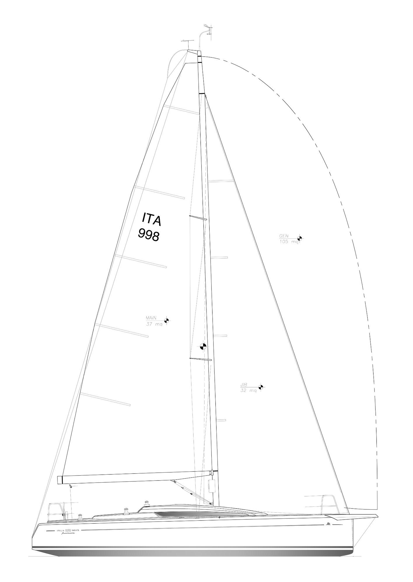 sailplan IY998 club
